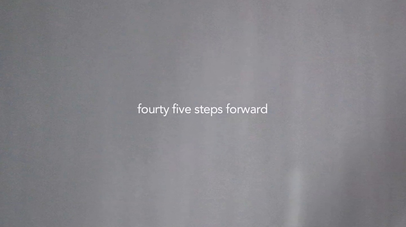 fourty five steps forward